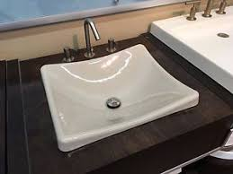 kohler demilav wading pool vessel sink in white kohler k 2833 g9 demilav wading pool bathroom sink sandbar