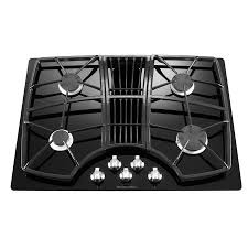 Kitchen Aid Cooktops Shop Kitchenaid Architect Ii 4 Burner Gas Cooktop Downdraft