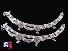fancy payal indian traditional silver ornament silver design