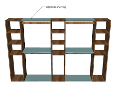 Wooden Shelves Plans by Ana White Master Closet System Diy Projects