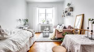 tour mini studio apartment scandinavian style youtube