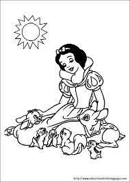 snow white coloring pages free kids