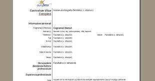 curriculum vitae formato europeo download pdf da compilare curriculum curriculum vitae europass scarica il cv
