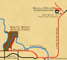 Shades State Park Map by Skull Hollow Campground U2014 Smithrock Com Smith Rock State Park