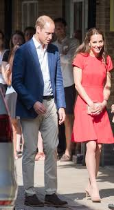 Prince William And Kate Kate Middleton Stuns In Scarlet As She Joins Prince William At