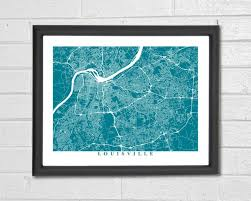 Kentucky gifts for people who travel images 55 best customized map art prints city streets map art map jpg