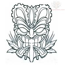 tiki mask coloring pages fablesfromthefriends