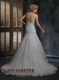wedding dresses open back mermaid
