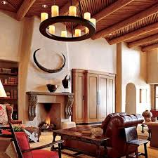 Hacienda Home Interiors by Pueblo Style Home With Traditional Southwestern Design