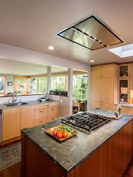 range in island kitchen flush ceiling mount range a great alternative for open space