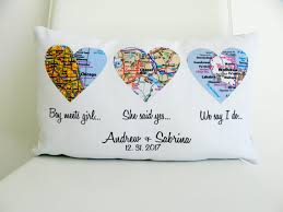 wedding gift map heart map pillow personalized wedding gift map heart wedding
