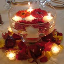 wedding candle centerpieces glass bowl for wedding centerpiece filled with