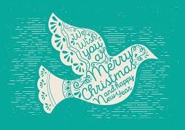 free christmas vector dove download free vector art stock