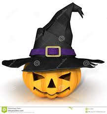 funny jack o lantern halloween pumpkin wearing a witch u0027s hat