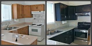 Paint Your Kitchen Countertops Kitchen On The V Side Kitchen Before After Painted Cabinets