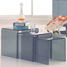 smoked glass coffee tables uk nested grey glass coffee side tables