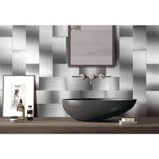 interior pieces peel n stick stainless steel backsplash tiles