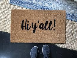 doormat funny hi y all doormat southern doormat funny doormat front door
