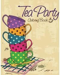 fall savings tea party coloring book