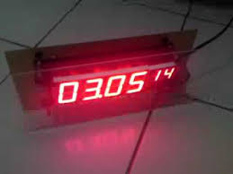 membuat jam digital led besar hobby elektronika digital microcontroller solder menyolder gabung