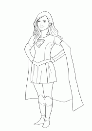 charming inspiration supergirl coloring pages draw supergirl hero