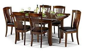 Julian Bowen Canterbury Dining Chairs Mahogany Finish Set Of - Mahogany kitchen table