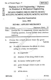 applied mechanics 2012 june engineering and technology civil