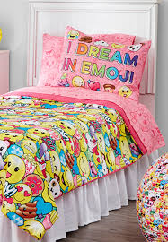 girls room decor furniture bedding for tweens justice emoji bed in a bag twin size