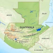 geographical map of guatemala guatemala physical map