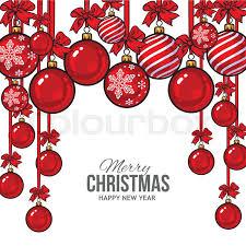 ribbon and bows christmas balls with ribbon and bows vector greeting card