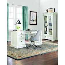 modern glass desk with drawers desks home office furniture the home depot