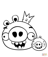 pig coloring pages smiling pictures cute pigs color cartoons