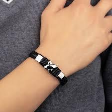 man bracelet cross images Fashion leather bracelet beaded bracelet bracelets for men jpg