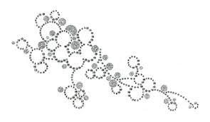 silver flowers glitter rhinestone rhinestud appliques