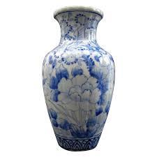 Antique Cobalt Blue Vases Japanese Antique Seto Ware 瀬戸 Porcelain Blue And White Vase