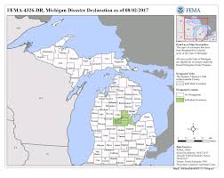 State Of Michigan Map by Michigan Severe Storms And Flooding Dr 4326 Fema Gov