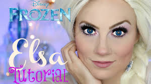 disney u0027s frozen queen elsa halloween makeup tutorial angela