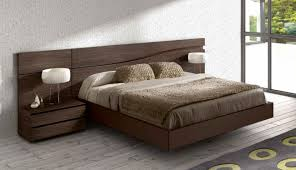 Lacquered Made In Spain Wood High End Platform Bed With Wave - Design of wooden bedroom furniture
