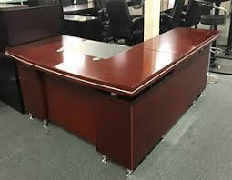 L Shaped Executive Desk Looking Special Cherry Wood Office Desk 23 388275 L