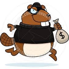 cartoon sneaky beaver burglar by cory thoman toon vectors eps 3928