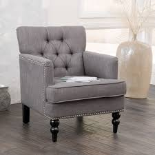Gray Arm Chair Design Ideas Christopher Home Malone Charcoal Grey Club Chair