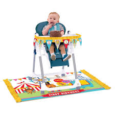 first birthday circus fisher price 1st birthday high chair decorating kit available from