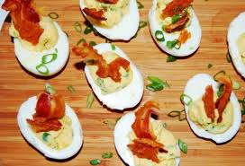 deviled eggs platter jalapeno deviled eggs with pancetta and cheddar crisps