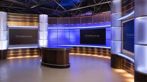 tv studio desk complete strong set