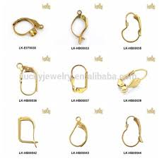 earring back types wholesale types of earring hooks lever back earring findings