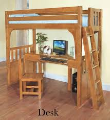Best Bunk Beds Images On Pinterest  Beds Lofted Beds And - Wood bunk beds with desk and dresser