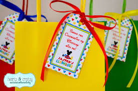 mickey mouse clubhouse party favor tags set of 16 goodie