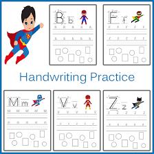 handwriting practice superhero one beautiful home