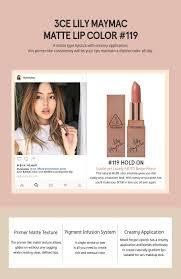 3ce lily maymac matte lip color 119 u2022 kbeauty original