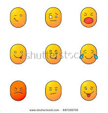 good mood colors smileys color icons set good bad stock vector 697108795 shutterstock